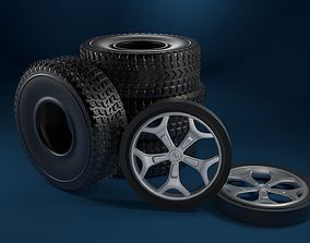 Tires and Wheels 3D