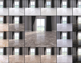 3D model Marble Floor Collection 1