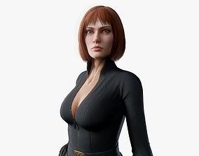 3D asset rigged Sci Fi Girl 05