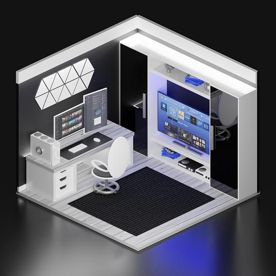 Super Clean Gaming Bedroom