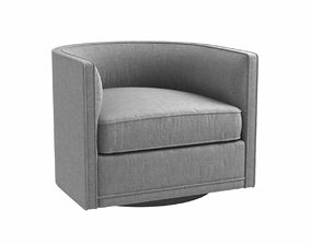 Custom made grey swivel round chair 3D