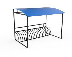 3D model Bicycle parking - canopy