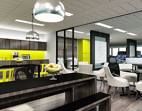 Office Interior teapoint 3D