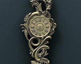 miniatures Wall clock 3d stl model for cnc