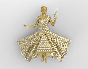 wedding Bride Necklace 3D