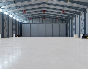 Airplane Hangar Interior 5 3D asset