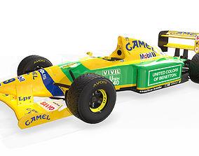 3D model 1992 Benetton B192 F1 Race Car