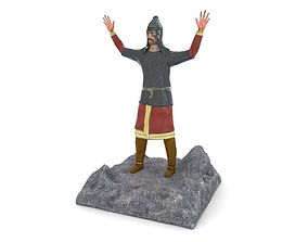 3D Figurine of an ancient warrior