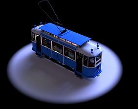 3D model Berlin Tram 1940s