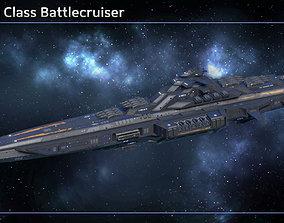 Spaceship Battlecruiser Kyushu 3D asset