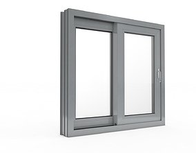 Sliding Window and Door Rigged and Adjustable 3D model