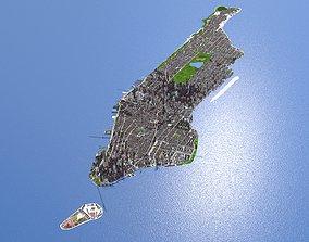3D asset Manhattan Suburb New York City NY September 2021