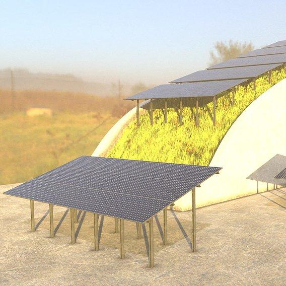 Solarmodule Version [4] 23m (Blender 2.93 Cycles Render 1)