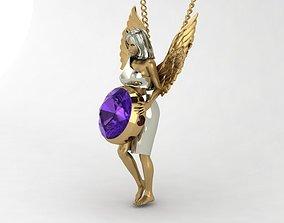 angel with gem 3D printable model