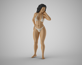 3D print model Girl Looking Leaning from Above