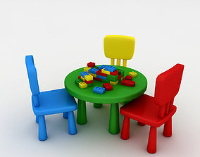 3D model Kindergarten Table Chair