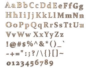 English Letters - Bronze 3D model