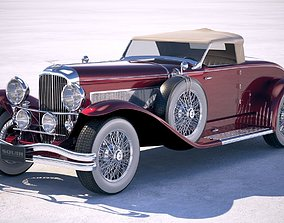 Duesenberg SJ Roadster 1935 VRAY 3D model
