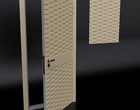 Door 3 and decorative panel 3D model