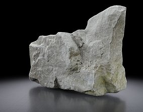 Rock 3D model - Photoscanned PBR Textures - Low low-poly 2