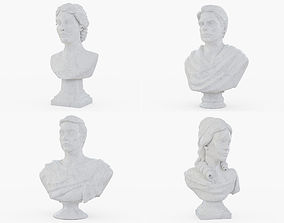 3D model Bust Marble Statues