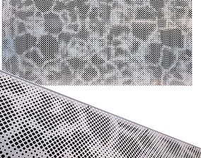 3D model perforated metal panel N18