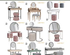 3D asset Dressing table 10 pieces
