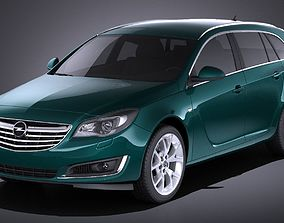3D Opel Insignia sports tourer 2015 VRAY