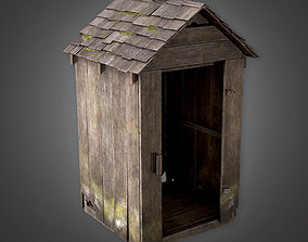 3D model CEM - Wooden Shed - PBR Game Ready