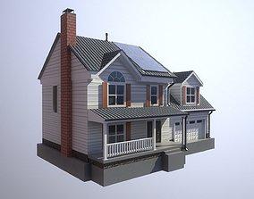 3D model Modern Suburban House 2