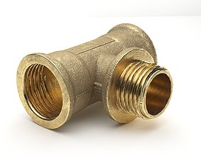 Pipe Tee T Joint 3D model