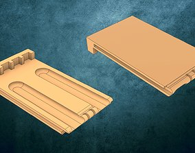 3D print model Miele fridge door handle opener plate