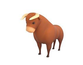 Cartoon Bull 3D model