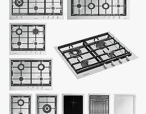 3D asset Barazza gas cooktops