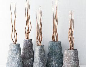 Branch stone vase 3D model
