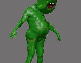3D model Green Alien Rigged