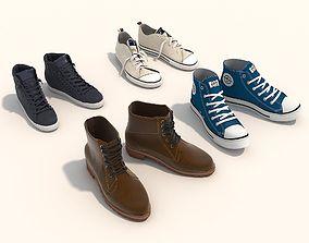 3D model Shoes Collection Set