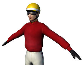 3D asset Jockey Rigged for RACING
