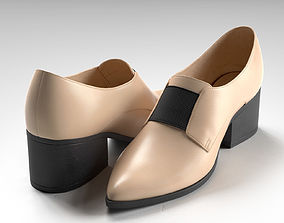 Socially Pointed Loafer Heels 3D model