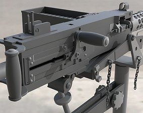 Browning M2 - High Poly 3D model