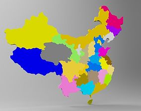 3d china map with it all region