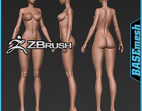 Anatomy female basemesh 3D model girl