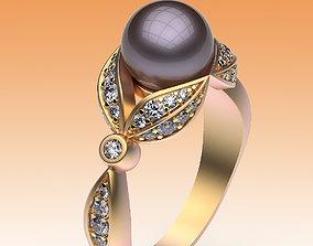 range Ring Pearl and Leaves 3D printable model
