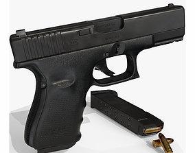 3D model rigged Glock 19