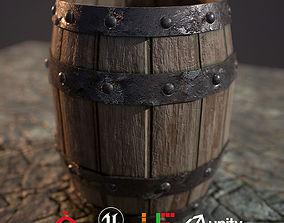 HIE Game Ready Wine Barrel D180323 3D model