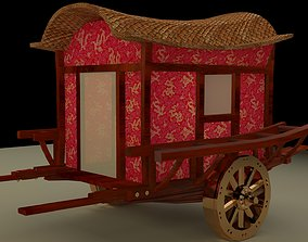 3D asset Chinese carriage