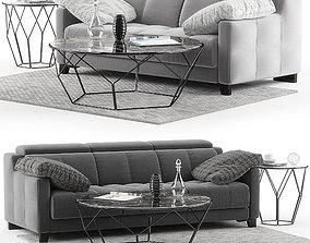 DVN Star Gino sofa set 3D