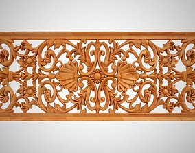 Rectangular Floral Ornament 3D printable model