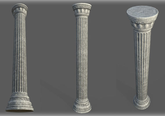 Game Art : Low Poly Roman Colomn