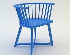 3D model Chair blue willow